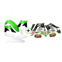 KIT PLASTIQUE XFUN +DECO MONSTER 450 KXF 13-15 KAWASAKI