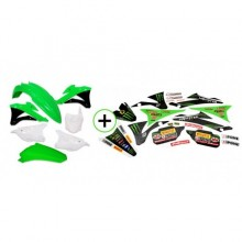 KIT PLASTIQUE + DECO MONSTER 85 KX 14-17 KAWASAKI