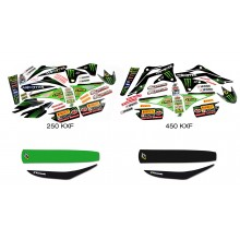 Kit déco MONSTER ENERGY KAWASAKI MX2 RACING TEAM OFFICIEL 250 450 KXF