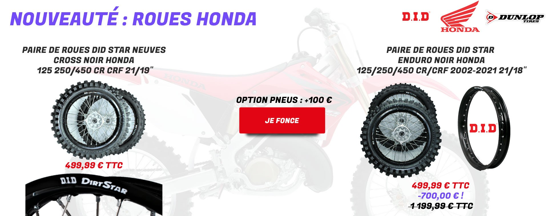 Roues Honda